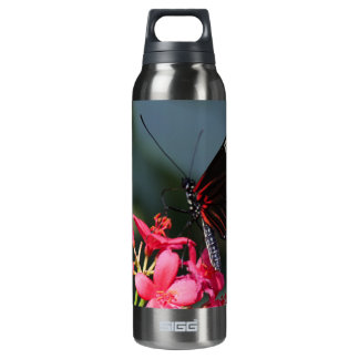 Flower and Butterfly mf Insulated Water Bottle