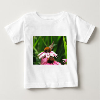 Flower and Butterfly Photo Baby T-Shirt