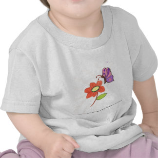 Flower and Butterfly Tee Shirt
