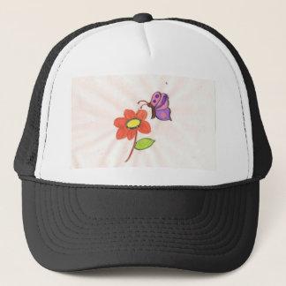 Flower and Butterfly Trucker Hat