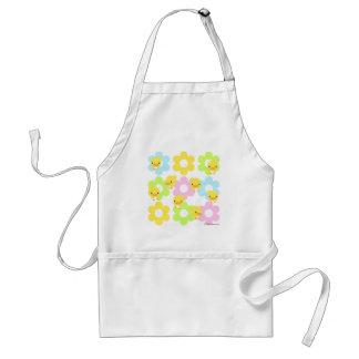 flower and chick: kitchen apron