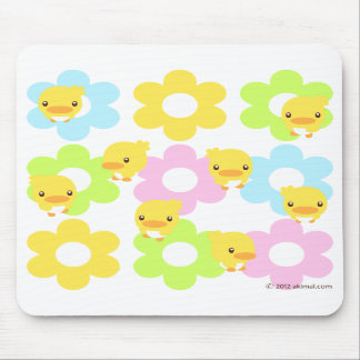 flower and chick: mouse propellant-actuated device mouse pads