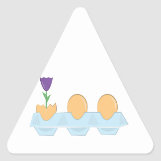 Flower And Eggs Triangle Stickers