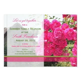 Flower and Farm Reunion Invite