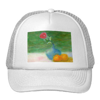 Flower and Fruit Still Life, Hat