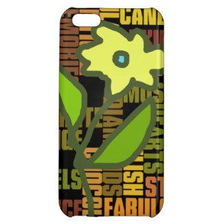 flower and girly words iPhone 5C cover