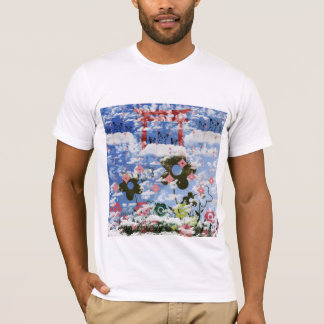 Flower and invitation cat and pendant T-Shirt
