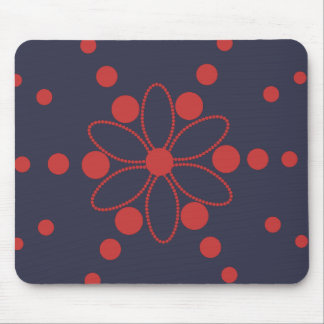 Flower and rays mouse pad