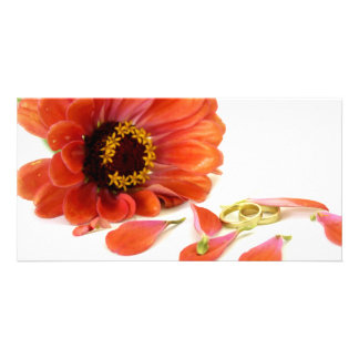 flower and rings card