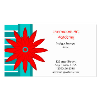 Flower and Stripes Business Cards