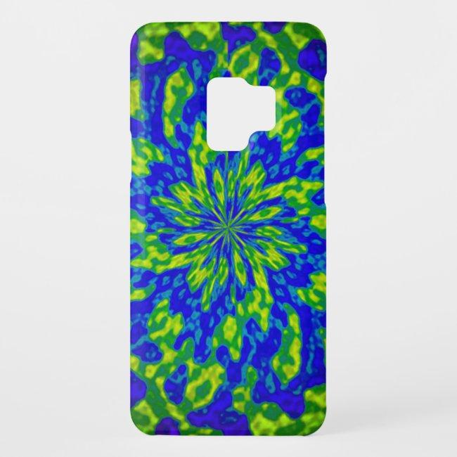 Flower and Swirls Mandala Abstract Galaxy S9 Case