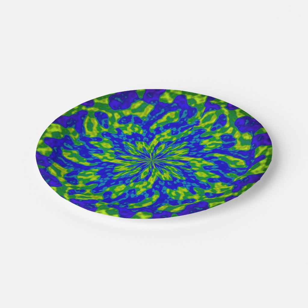Flower and Swirls Mandala Paper Plates