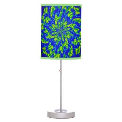 Flower and Swirls Mandala Table Lamp