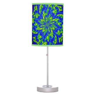 Flower and Swirls Mandala Table Lamps