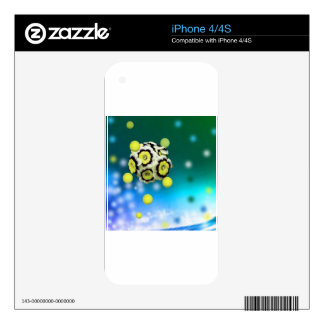 Flower and tennis balls flying on air. iPhone 4S skins