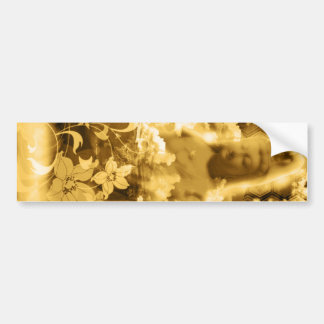 Flower and the Merciful Goddess 菩 薩 with Imabari c Bumper Sticker