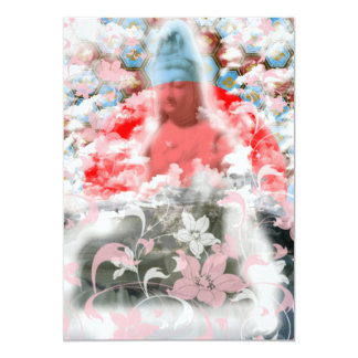 Flower and the Merciful Goddess 菩 薩 with Imabari c Card