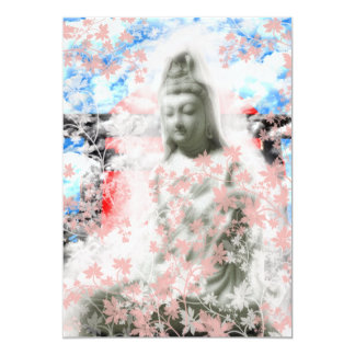 Flower and the Merciful Goddess 菩 薩 with Ise shrin Card