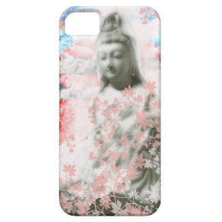 Flower and the Merciful Goddess 菩 薩 with Ise shrin iPhone 5 Covers