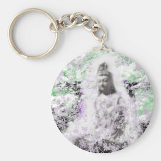 Flower and the Merciful Goddess 菩 薩 with Ise shrin Keychain