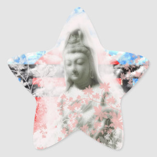 Flower and the Merciful Goddess 菩 薩 with Ise shrin