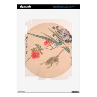 Flower and Toad - Zhang Xiong (Chinese, 1803–1886) Decals For iPad 3