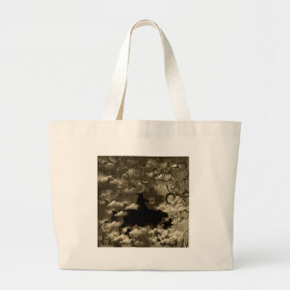 Flower and warrior jumbo tote bag