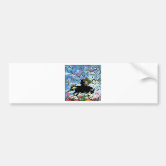Flower and warrior car bumper sticker
