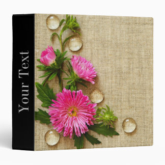 Flower and Water Droplets Binders