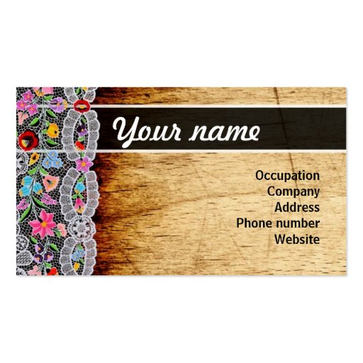 Flower and wood namecard business cards