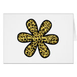 Flower, Animal Print, Spotted Leopard - Yellow Cards