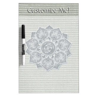 Flower Applique with Digital Faux Fabric Dry-Erase Board