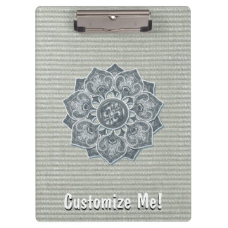 Flower Applique with Jacquard Any Color Clipboard