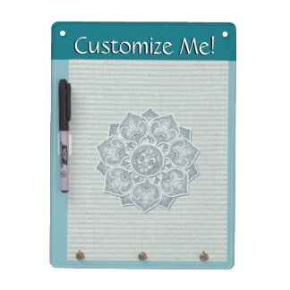 Flower Applique with Jacquard Any Color Dry Erase Board