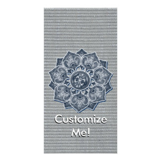 Flower Applique with Jacquard Any Color Photo Card