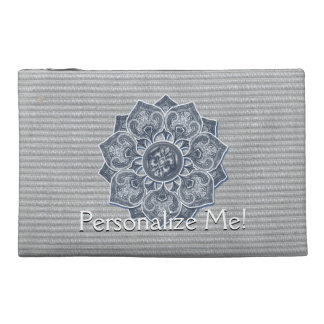 Flower Applique with Jacquard Choose ANY COLOR Travel Accessories Bag