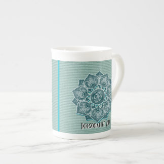 Flower Applique with Jacquard Choose ANY COLOR Tea Cup