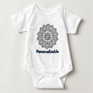 Flower Applique with Jacquard Material ANY COLOR Baby Bodysuit