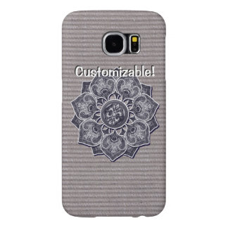 Flower Applique with Jacquard Material ANY COLOR Samsung Galaxy S6 Cases