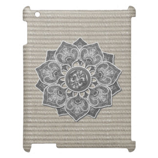 Flower Applique with Jacquard Material ANY COLOR Case For The iPad 2 3 4
