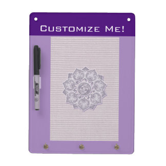 Flower Applique with Jacquard Material ANY COLOR Dry Erase Board