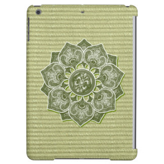 Flower Applique with Jacquard Material ANY COLOR iPad Air Cover