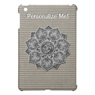 Flower Applique with Jacquard Material ANY COLOR iPad Mini Covers
