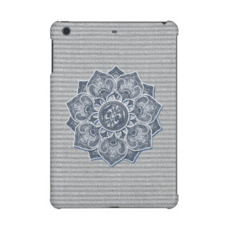 Flower Applique with Jacquard Material ANY COLOR iPad Mini Retina Cases