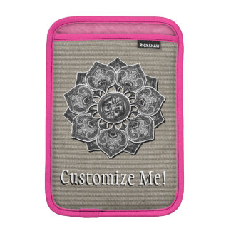 Flower Applique with Jacquard Material ANY COLOR iPad Mini Sleeve