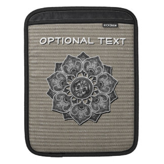 Flower Applique with Jacquard Material ANY COLOR iPad Sleeve