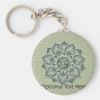Flower Applique with Jacquard Material ANY COLOR Keychain
