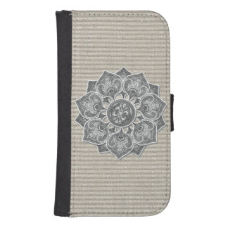 Flower Applique with Jacquard Material ANY COLOR Galaxy S4 Wallets