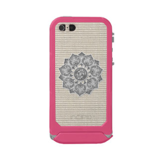Flower Applique with Jacquard Material ANY COLOR Waterproof iPhone SE/5/5s Case