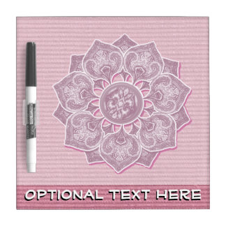 Flower Applique with Jacquard Pick A COLOR Dry-Erase Board